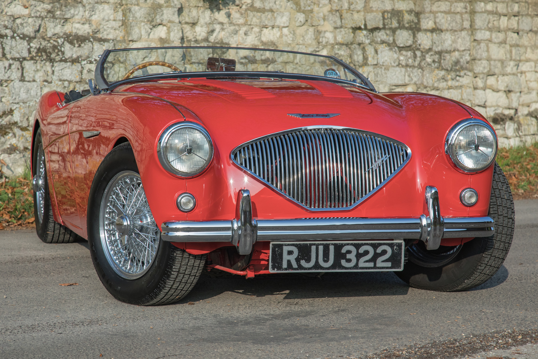 Sold Austin Healey 100 Bn1 Original Rhd Carmine Red Rawles Motorsport Austin Healey Restoration And Sales Specialists